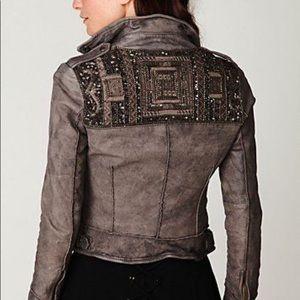 Muubaa | Mallow Embroidered Moto Jacket